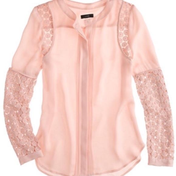 1d2676b1a7971 ... Silk Georgette Lace Shirt. M 5ace8357c9fcdfdfea9136be
